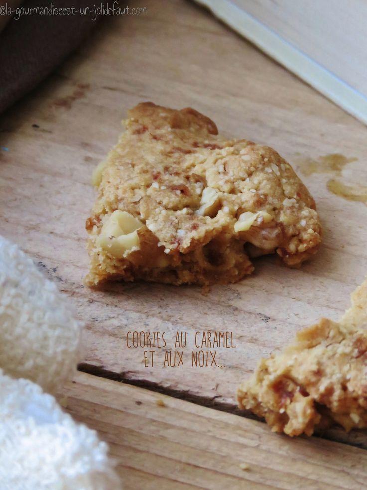 Cookies au caramel et aux noix