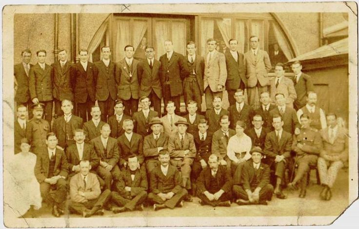 Holyhead WW1 Veterans from the Royal Welch. Picture taken in 1919.