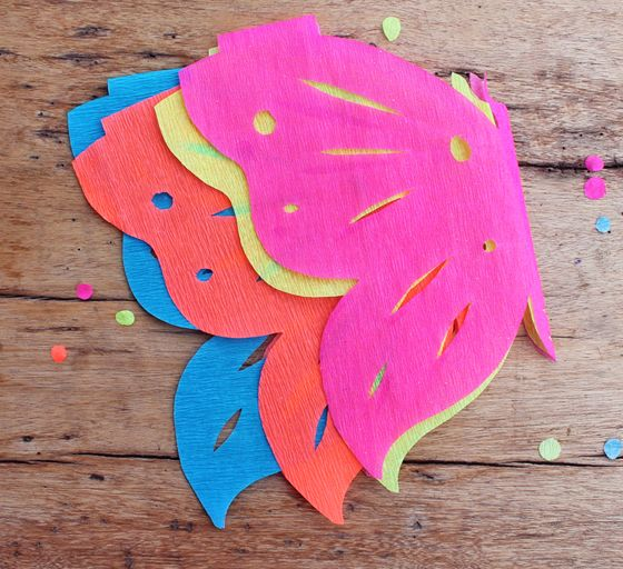 diy papel picado template -crepe paper craft project butterfly papel picado decorations