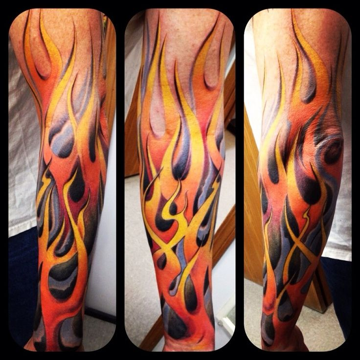 Flame Tattoos Designs Ideas And Meaning: Tattoo Sleeves Are A Huge Investment Of Both Time And
