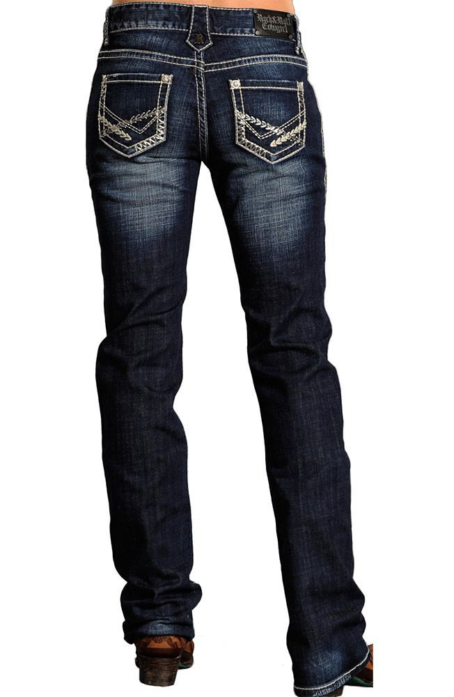 """Rock and Roll Cowgirl"" jeans."
