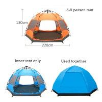 Hot Sale Hexagonal Lightweight Backpacking 4 Season Camping Hiking Tents- Blue