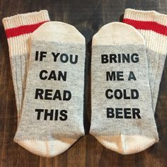 Bring me a beer socks, gift for him, mens stocking stuffer, christmas gift ideas, beer lover gift, craft beer, beer gift, beer lover gift by chelseyscardcreation on Etsy https://www.etsy.com/listing/474433485/bring-me-a-beer-socks-gift-for-him-mens