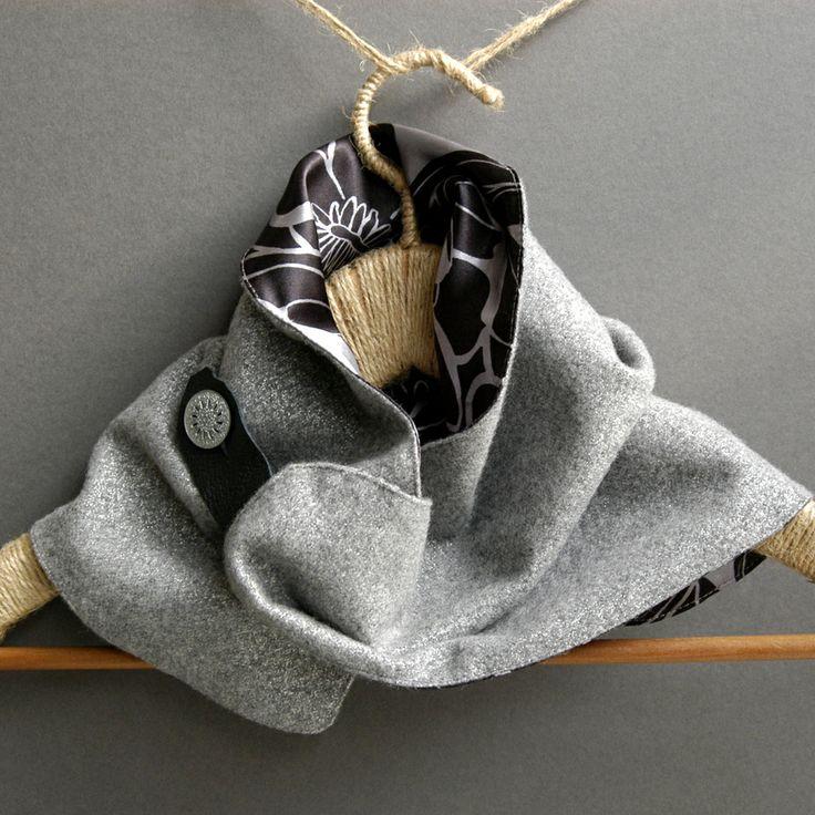 sparkle wrap grey/silver cashmere wool mix neckpiece - £38 by Hat Therapy