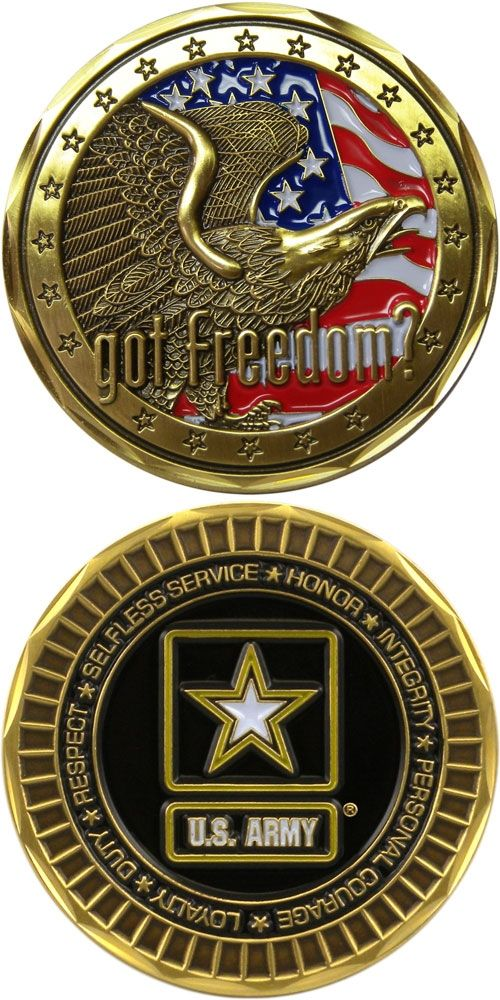 Got Freedom Challenge Coin - Meach's Military Memorabilia & More