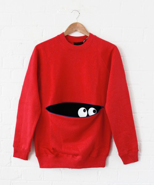 Lazy Oaf Red Peekaboo Sweatshirt/i feel like little kids would loooove this one for a storytime!
