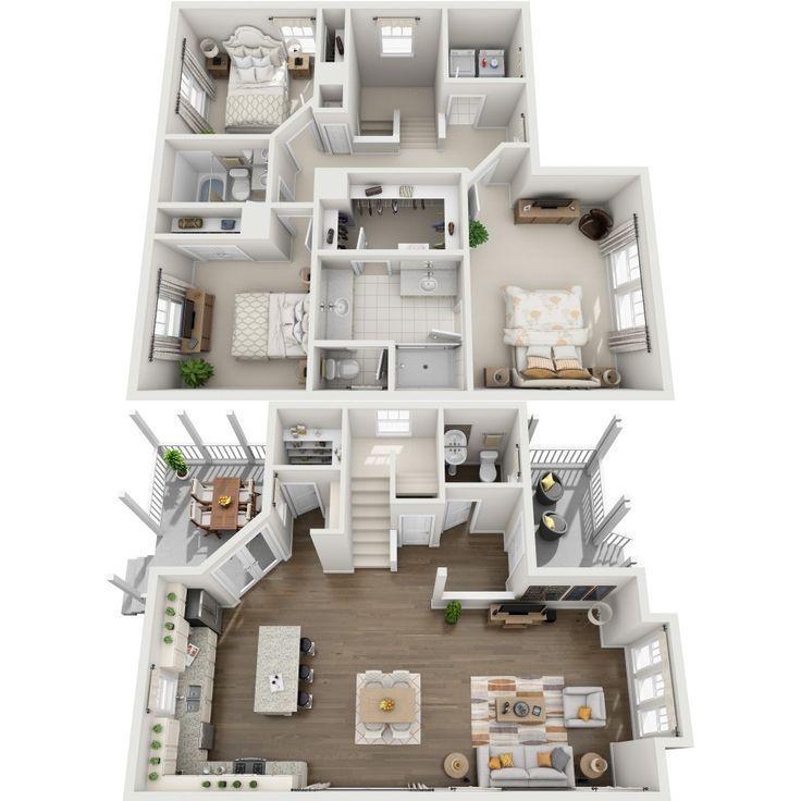 Bloxburg House Ideas 2 Floor In 2020 House Floor Plans House Layout Plans Sims House