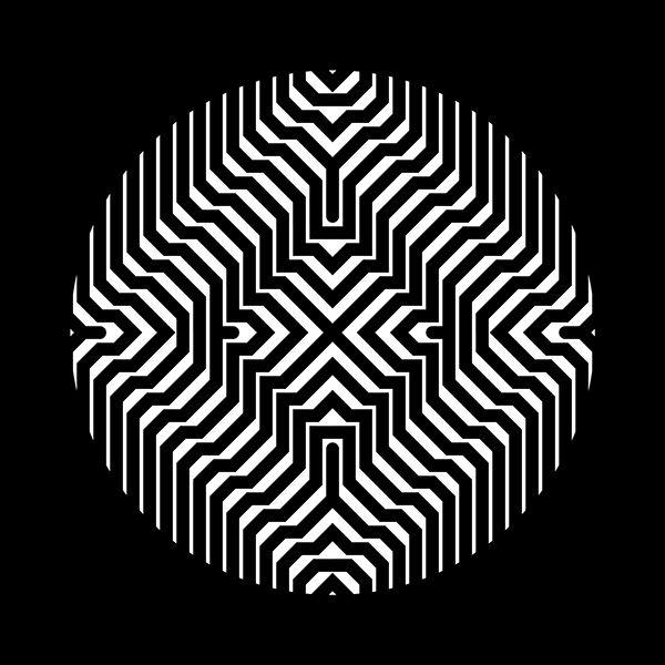 578 best eye illusion geometric images on pinterest for Geometric illusion art