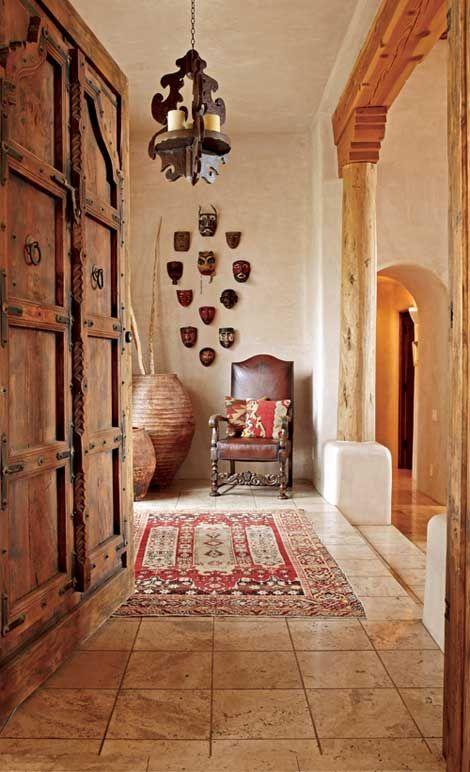 color del piso y pintura rustica de las paredes