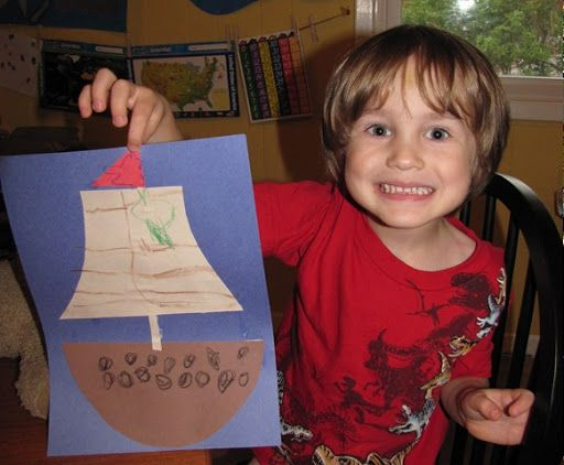Preschool Crafts for Kids*: Thanksgiving Day Mayflower Craft