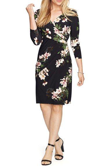Lauren Ralph Lauren Floral Faux Wrap Dress (Plus Size) available at #Nordstrom