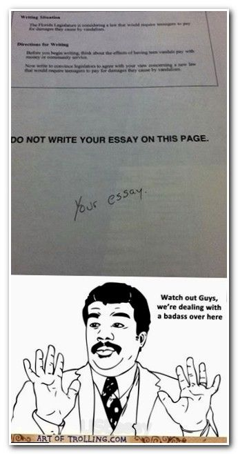 best essay writing student images handwriting  funny student answer do not write below this essay