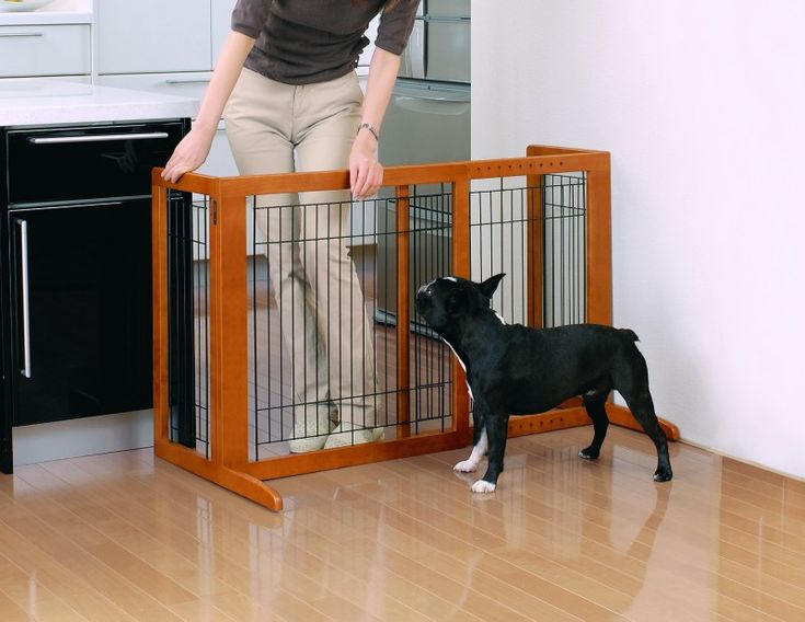 Richell USA Freestanding Dog Gate Review   Adjustable Width So It Will Fit  Each Of Your