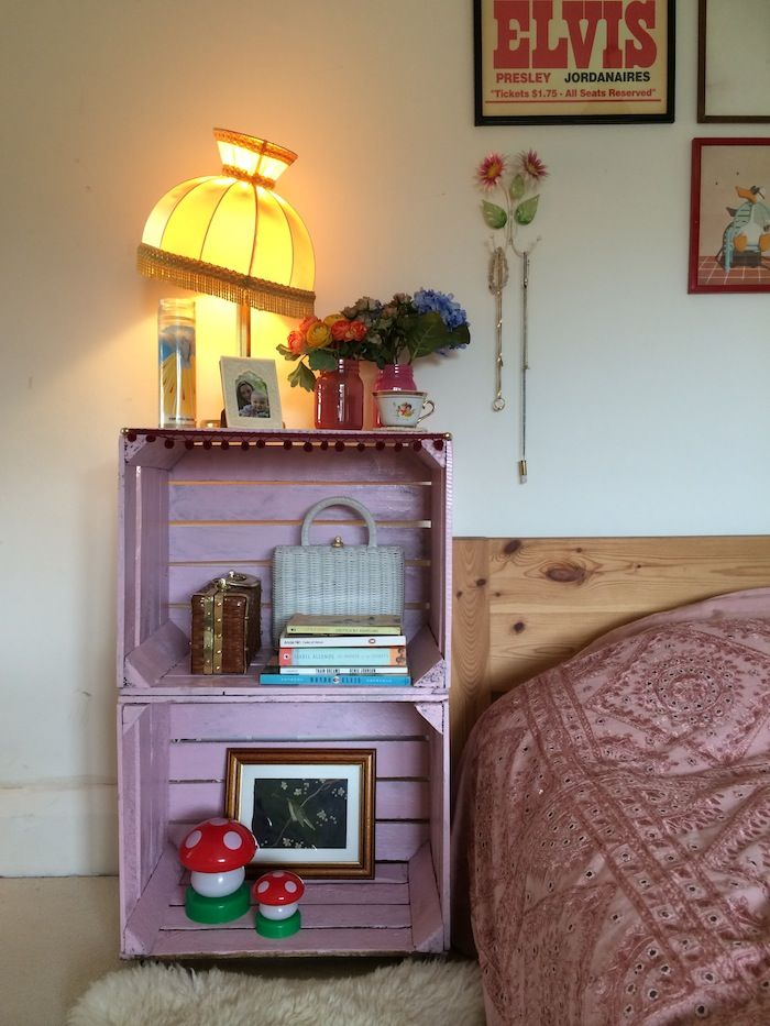 DIY crate side table - By Hand London