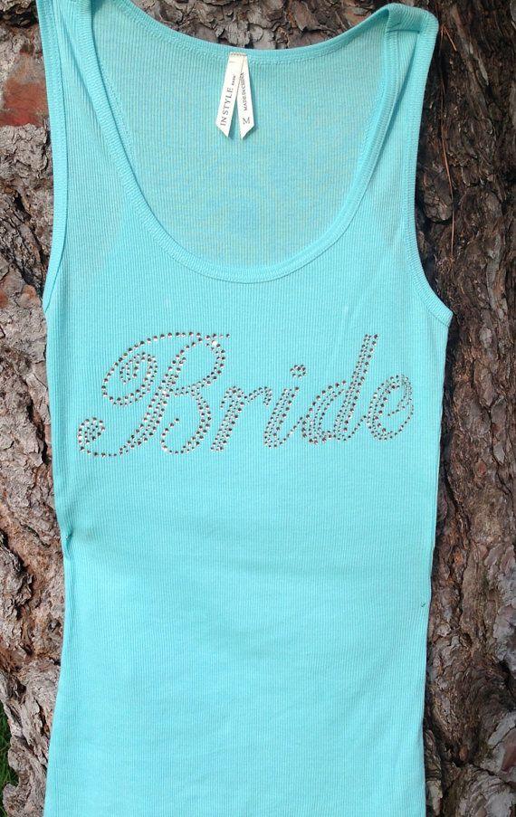 Bride Tank top shirt. Tiffany blue Bridal tank. by MarryMeBoutique, $14.99