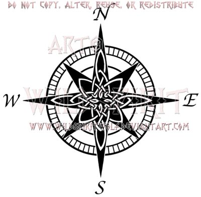 Celtic Compass Rose Design by WildSpiritWolf.deviantart.com on @deviantART