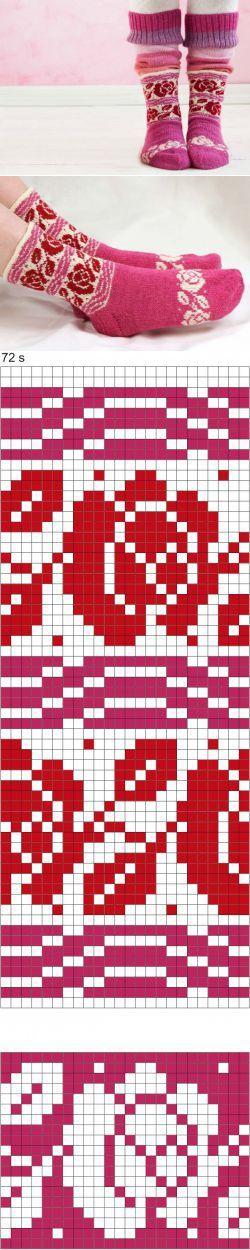 Roosa nauha -langasta neulottujen Ingrid-sukkien ohje - Neulonta ja virkkaus - Suuri Käsityö | вязание(жаккард,вышивка) | Постила