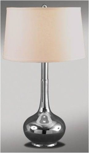 Silver tear drop table lamp from home furniture rental by cort furniture
