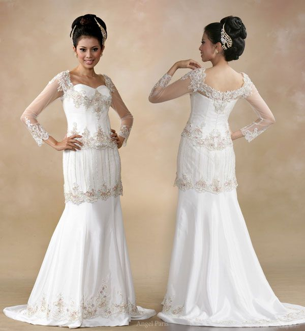 White wedding gown from Indonesian boutique Angel Paris