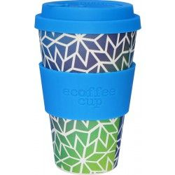 Ecoffee Cup To go Becher Bambus Stargate blau