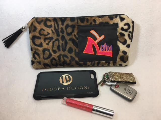Leopard Purse, Diva Purse, Leopard Handbag, Leopard Clutch, Leopard Purse, Goth Purse, Leopard Purse, Zipper Pouch, LW11X5FF-Purple by IsidoraDesigns on Etsy