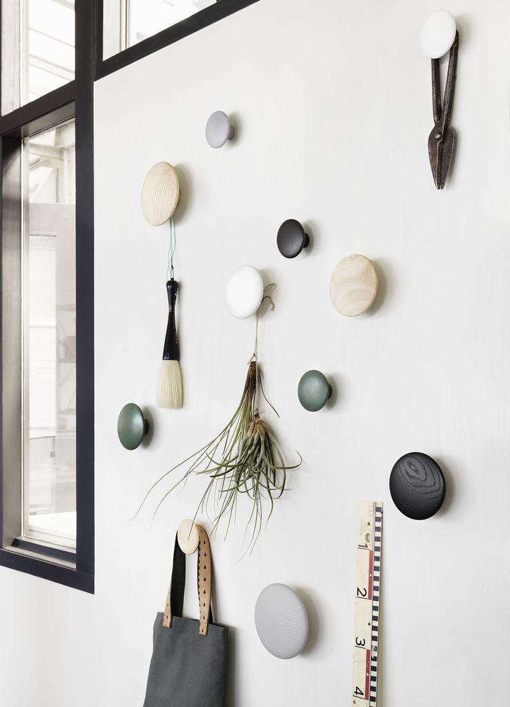 The DOTS, designed by Lars Tornøe are very versatile and can be used in multiple settings, including the entrance hall, bedroom and kitchen.  http://www.muuto.com/accessories/dots