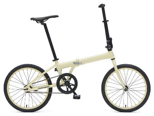 Retrospec Bicycles Speck Folding Single-Speed Bicycle, Cream, 20-Inch - http://www.bicyclestoredirect.com/retrospec-bicycles-speck-folding-single-speed-bicycle-cream-20-inch/