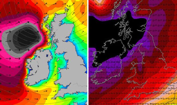 Christmas weather forecast HORROR: Terrifying maps show Storm Barbara will RAVAGE Britain