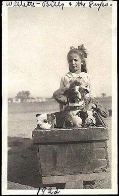 Willette, Bill & the pups - 1922
