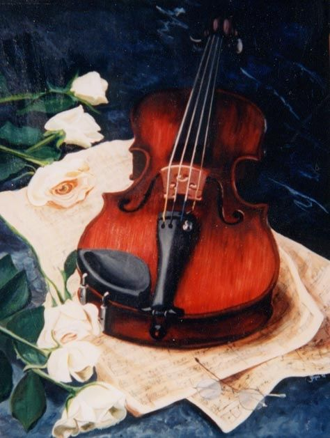 Violin~ahhh! I always wished I could play a violin...I wonder if it is too late?