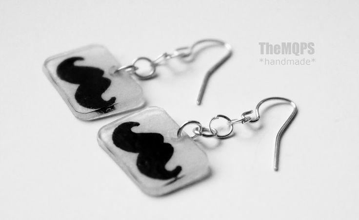 * Moustache *  100% handmade & original. Kolczyki. Zapraszam do oglądania, komentowania i... zamawiania: themqps.blogspot.com