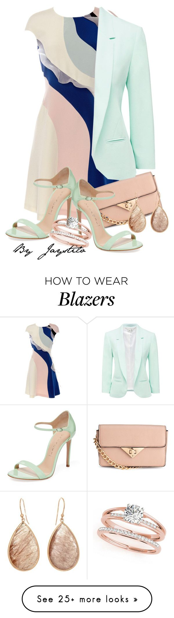 """Minty wedding"" by jaystilo on Polyvore featuring HUISHAN ZHANG, H&M, Forever New and Casadei"
