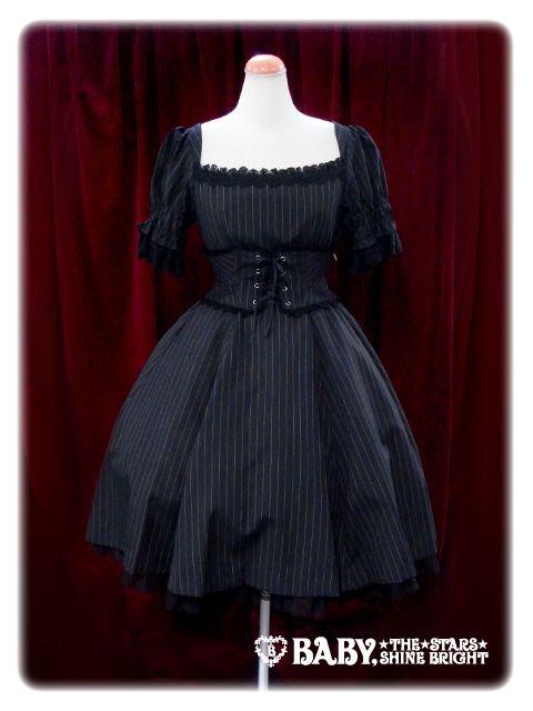Cornelia one piece dress (in black) via Alice & The Pirates http://www.babyssb.co.jp/shopping/ap/onepiece/108P346.html (Gothic Lolita)