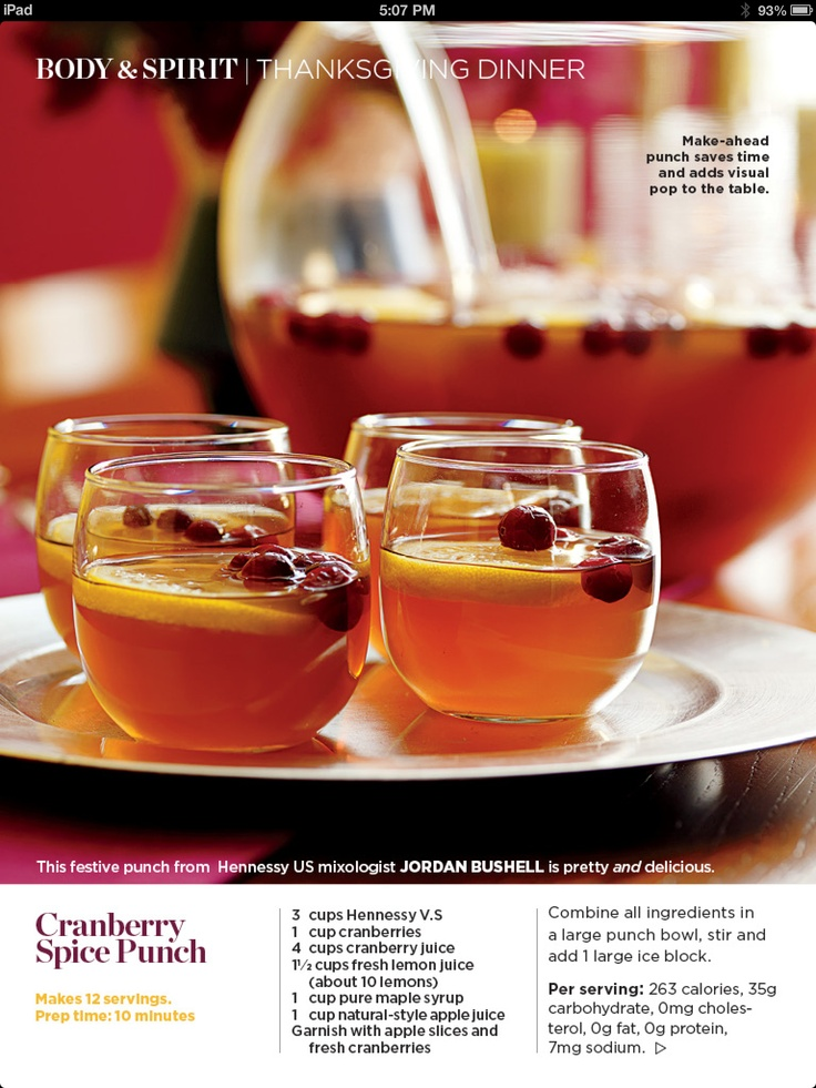 Making this Hennessy punch for the next holiday get together.