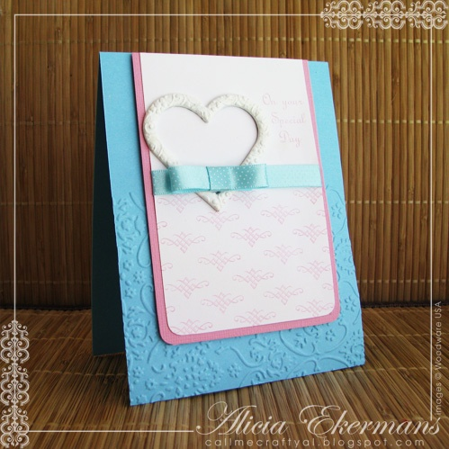 Used a couple different Woodware USA stamp sets to create this clean and simple (CAS) wedding card. The metal heart was painted white and topped with a faux bow.Scrapbook Ideas, Wedding Cards, Cards Stamps, Buckets, Special Day, Day Wedding, Scrapbook Layout, Anniversaries Cards, The Roller Coasters