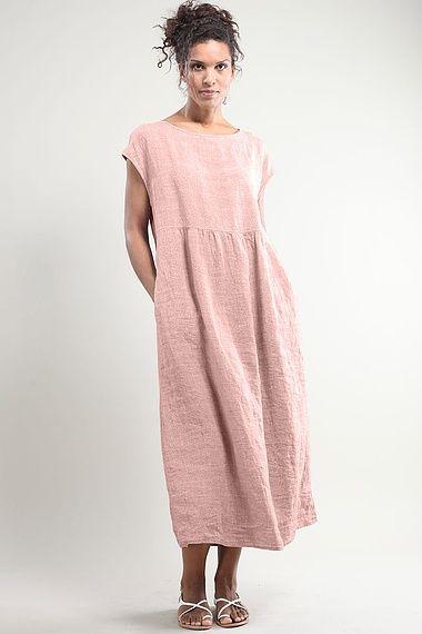 Vestido Geraldine en lino 100% de venta en http://www.laobservadora.com