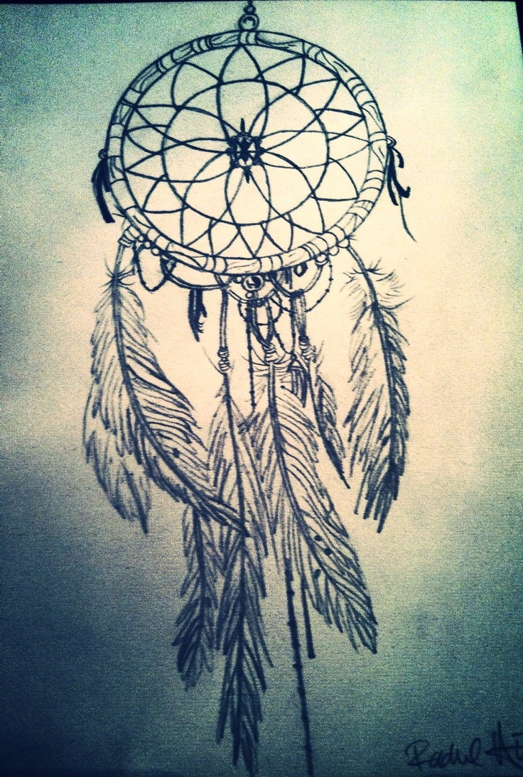 My dream catcher drawing. Possible tattoo idea? On the ...