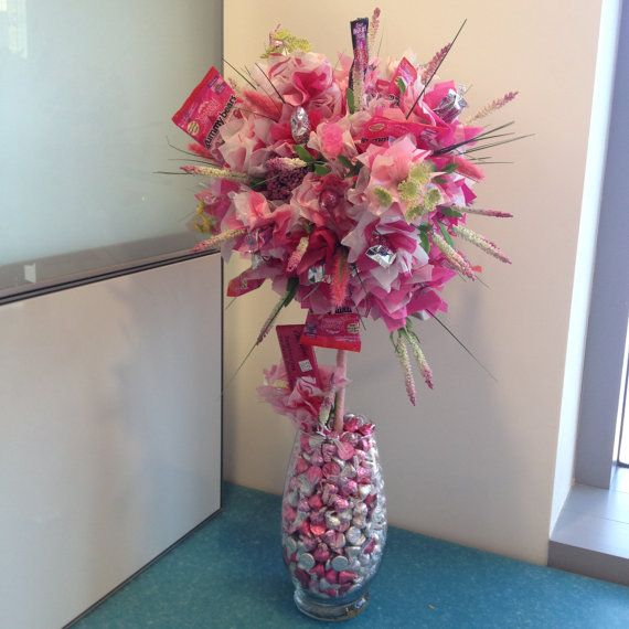 Sweetheart  Candy Bouquet by AiCandyBouquets on Etsy, $45.00