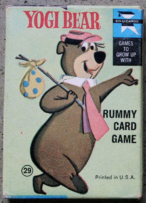 Yogi Bear rami jeu de carte