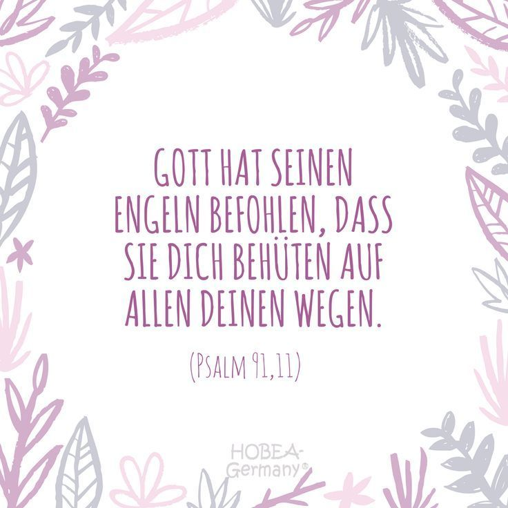 Gott Hat Seinen Engeln Geboten Dich Auf Alle Deine Arten Zu