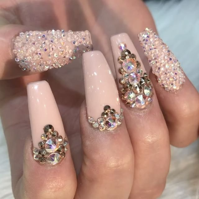 don't repost my pins if you not going to give me credit .. Bling NailsBling  ... - Best 25+ Bling Nails Ideas On Pinterest Bling Acrylic Nails