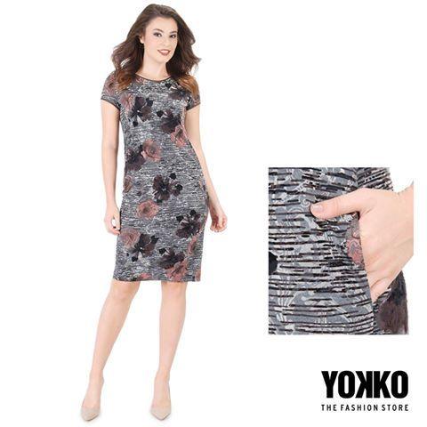 FALL SONG YOKKO   fall16  #dress #velvet #day #newcollection #flowersprint #fall16