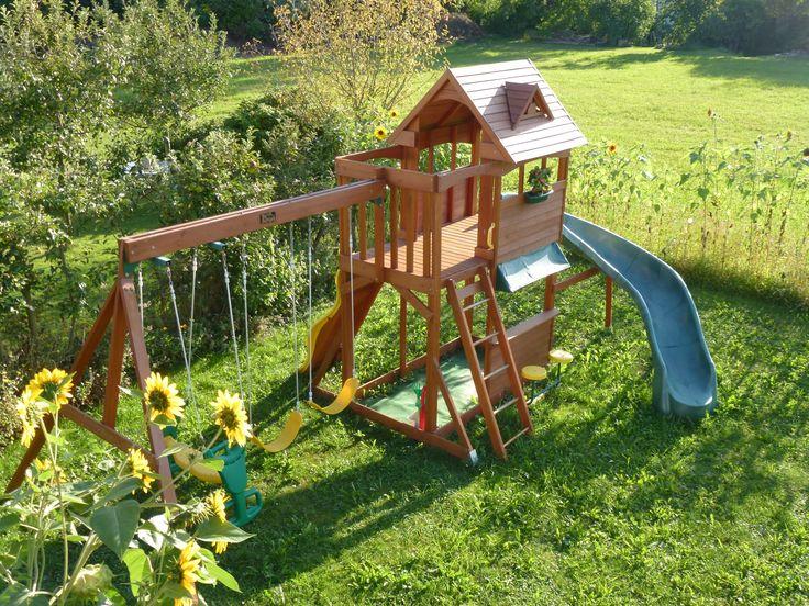 Spielhaus Holz Mit Rutsche Und Schaukel ~   auf Pinterest  Paletten Möbel für draußen, Suche und Sandkasten
