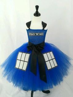 88 of the Best DIY No-Sew Tutu Costumes - DIY for Life  Dr Who Tardis