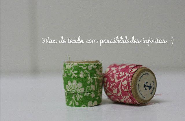 #washitape #Diyfitasdetecido - http://www.superziper.com/2013/07/diy-fitas-adesivas-de-tecido-washi-tape-de-tecido.html