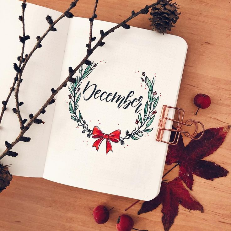 It's December! ? I can't believe the year's almost over, already! I'm really looking forward to Christmas this year though, and I'm definitely in that festive mood! ♥️ My cover is a lot more minimal than the ones I made in October and November. I'm determined to keep my spreads simple this month to clear out my brain and focus on more important things ☺️