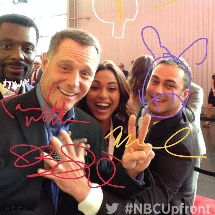 One big family. We're at the #NBCUpfront event. #ChicagoFire #ChicagoPD