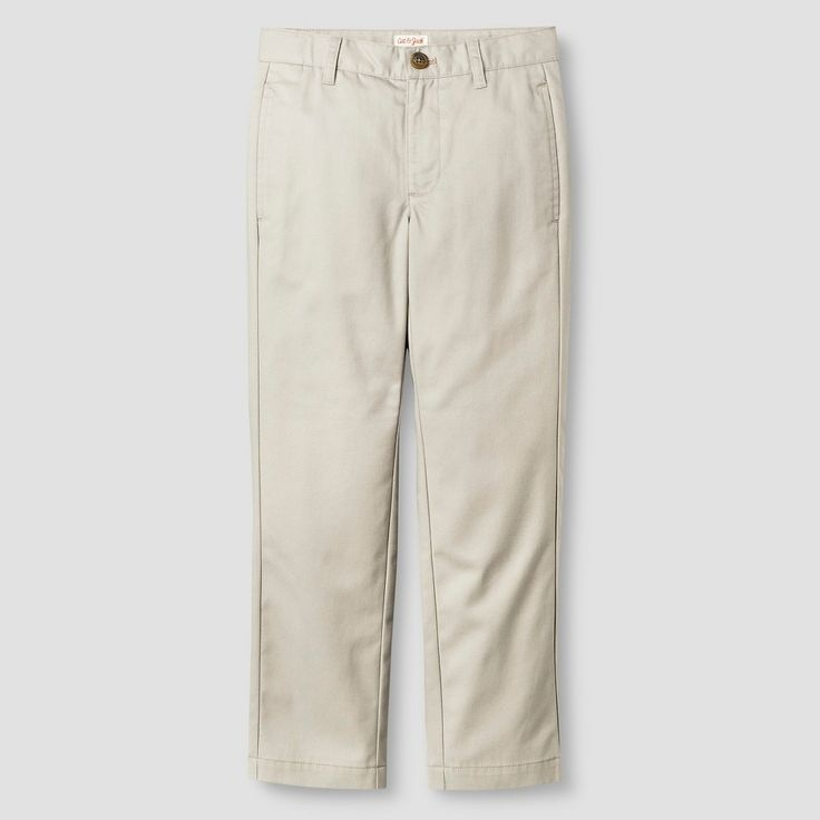 Boysu0027 Reinforced Knee Flat Front Pant