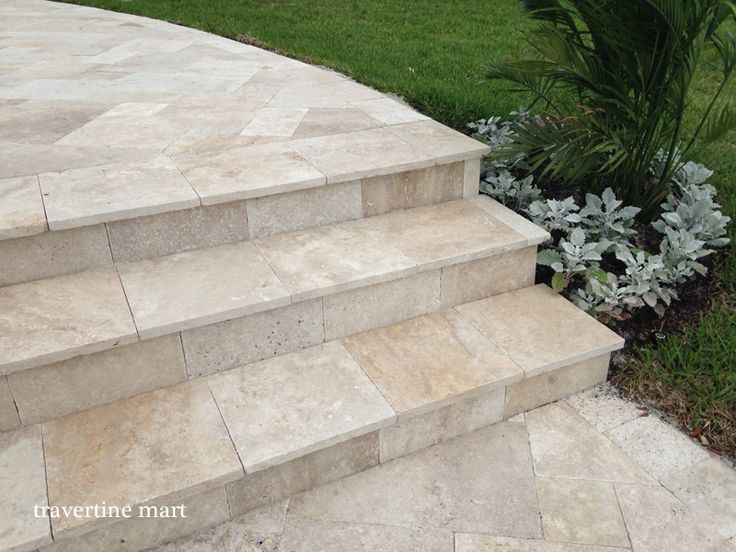 Travertine pavers for patio