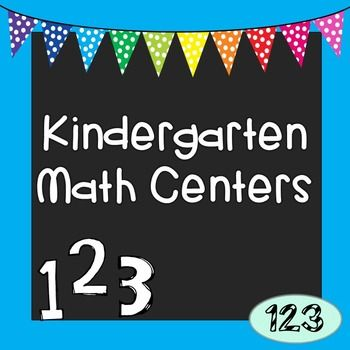 """Kindergarten Math Centers Packet with 15 minimal to no prep activities included! Including five """"make 5"""" activities that directly address the KG CCSS of adding to 5 fluently. Most games can be adjusted to be played either individually, in pairs, with a small group, or even whole class."""